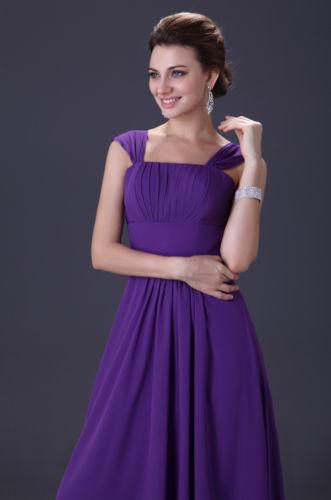 společenské šaty šifonové na ramínka fialové - plesové šaty ... b79c1149b6